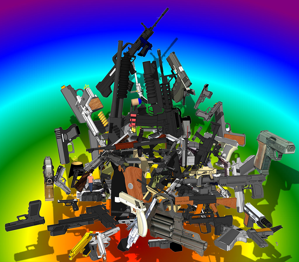 All The Guns I Could Find On Google SketchUp In One Afternoon